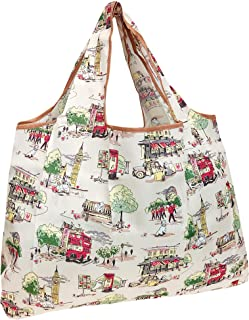 allydrew Large Foldable Tote Nylon Reusable Grocery Bag, London