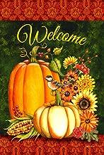 Toland Home Garden Welcome Gourds 12.5 x 18 Inch Decorative Fall Autumn Pumpkin Harvest Garden Flag