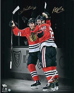 Patrick Kane & Alex DeBrincat Chicago Blackhawks Autographed 16