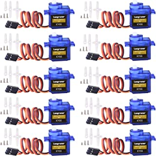 Longruner SG90 Micro Servo Motor 9G RC Robot Helicopter Airplane Boat Controls KY66 (KY66-10)