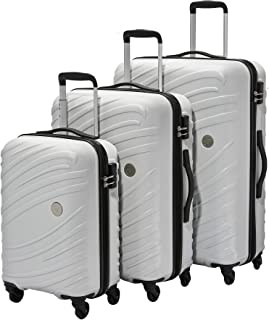 AT by Samsonite3-Piece Hardside ABS Trolley Luggage Set (22, 27 & 31 Inch) - Frost Grey