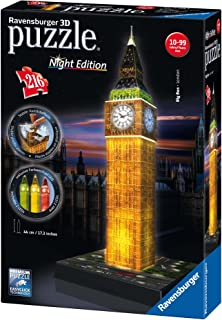 Ravensburger Big Ben - Night Edition - 216 Piece 3D Jigsaw Puzzle for Kids and Adults - Easy Click Technology Means Pieces Fit Together Perfectly