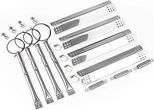 Grill Parts Kit for Charbroil 463241013, 463241313, 463241314, 463241413, 463241414, 466241013, 466241313, 466241413 - Tube Burner, Heat Plates, Burner Electrode & Crossover