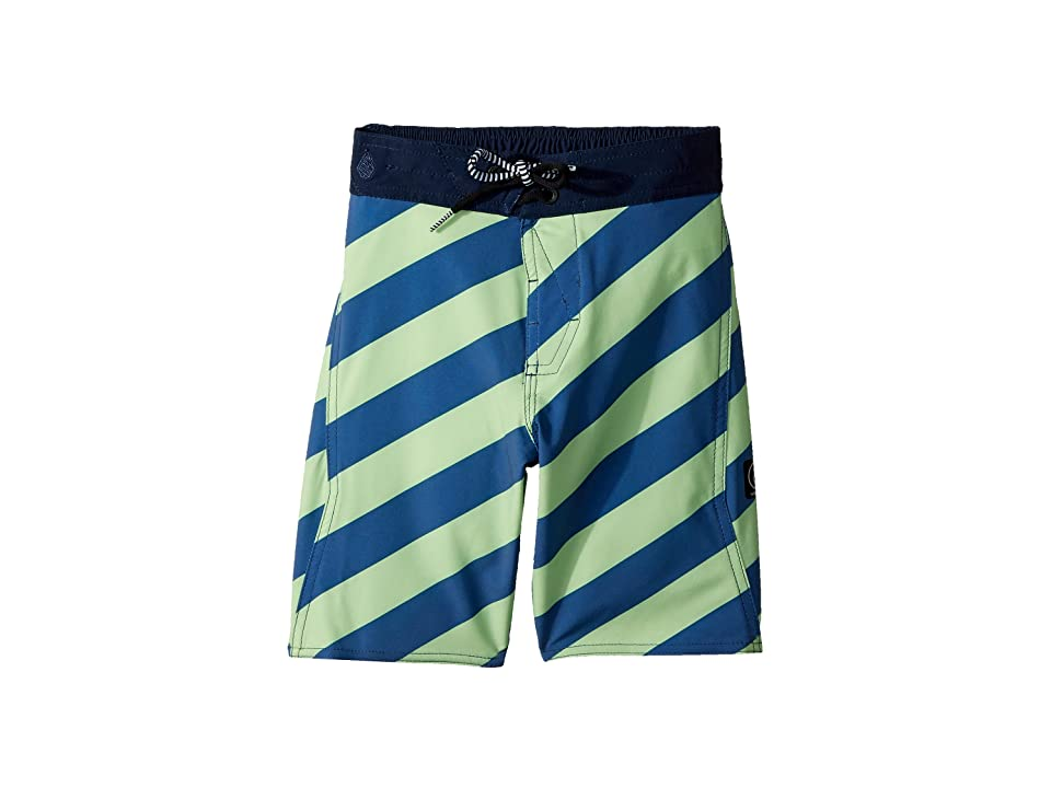Volcom Kids Stripey Elastic Boardshorts (Little Kids/Big Kids) (Strobe Green) Boy