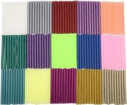 Barras de pegamento caliente 150 piezas 10 x 0,7 cm 15 colores pegado de plástico de madera de cartón para bricolaje arte reparación de la unión