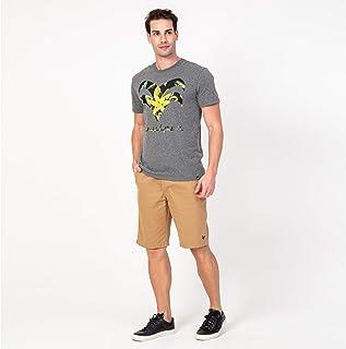 Camisa T-shirt Tropical Folhas Mescla