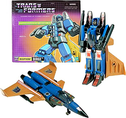 tomar hasta un 70% de descuento Transformers Year 2003 Commemorative Series Series Series VII Die Cast Metal and Plastic 6 Inch Tall Robot Action Figure - Decepticon Warrior DIRGE with 2 Missiles (Vehicle Mode  Fighter Jet) by Hasbro  muchas concesiones