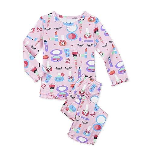 226bbeb44d Sara s Prints Baby Girls  Cozy Ruffled Relaxed Fit Pajama Set