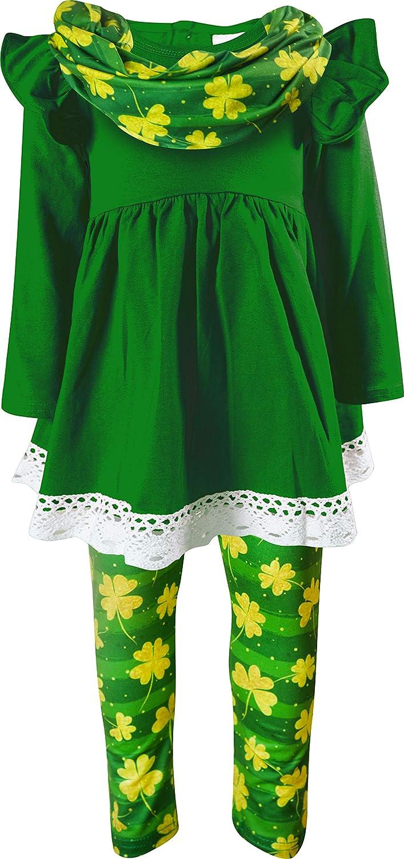 本日の目玉 Boutique 付与 Clothing Girl St Patrick Lime Patty Green Top Leggings