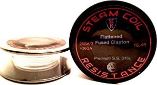 Premium 3-Core S.S. 316L Flattened Fused Clapton 16ft! Resistance Wire 28g(3),36g