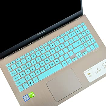 """LEZE - Keyboard Cover Compatible with 15.6"""" ASUS VivoBook S15 S530UA S530UN S512, VivoBook F512 F512DA F512FA, X512 X509 X509FA Laptop - Mint"""