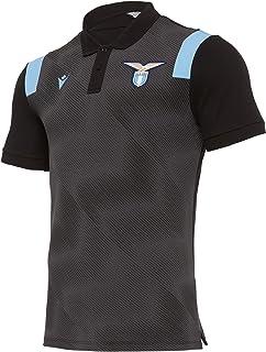 Macron 2020-2021 Lazio Pre-Match Cotton Polo Shirt (Black)