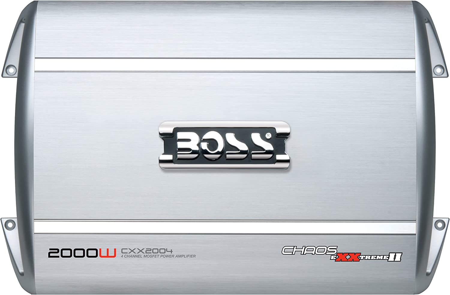 BOSS Audio Systems CXX1604 Chaos Exxtreme II 1600-Watts Full Range Class AB 4 Channel 2-8 Ohm Stable Amplifier with Remote Subwoofer Level Control
