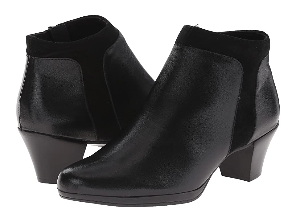 Munro Hope (Black Leather/Suede) High Heels