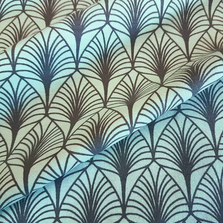 Tela de Tela de algodón de Werthers, por Metros, Color Menta, Gris, diseño de Hojas, Tela para Ropa, Tendencia Moderna: Amazon.es: Juguetes y juegos