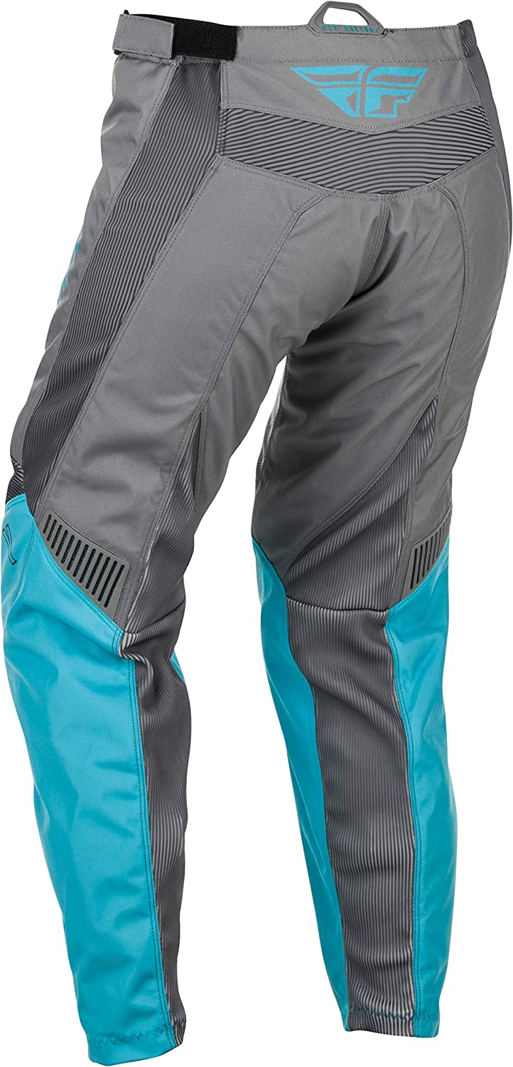 Polyester with Mesh Comfort Liner and Adjustable Waist Belt Grey//Orange Size 26 Fly Racing F-16 Youth Motorsport Pants Performance Apparel