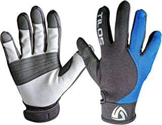 Tilos 1.5mm Tropical Dive Gloves for Men, Women, Kids UPF50+ Stretchy Mesh with Amara Leather for Paddling, Kayaking, Water Jet Skiing, Sailing, Canoeing, Rafting, SUP