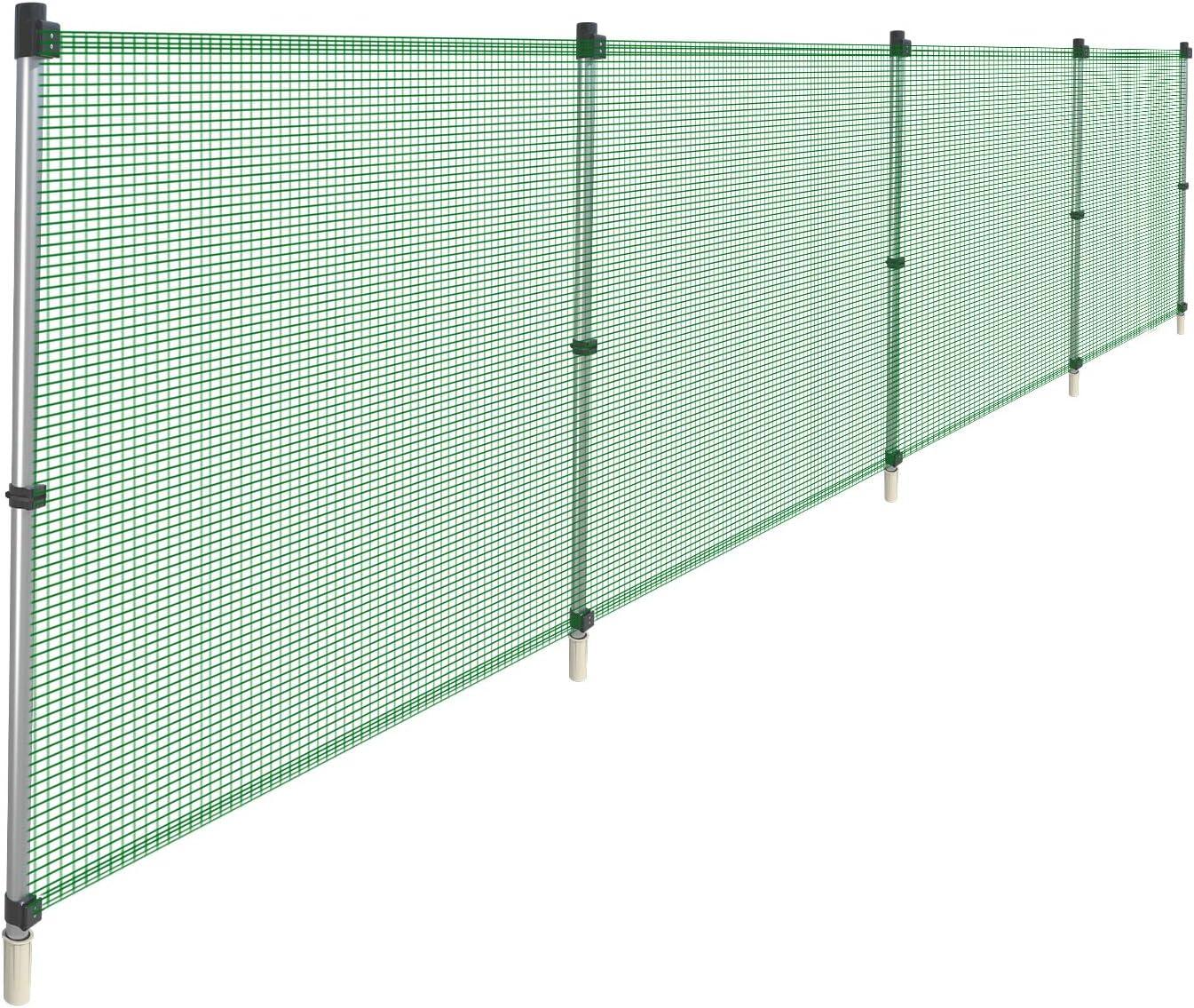 COARBOR Outdoor Fencing with Metal Poles Fence Removable Max 44% Max 72% OFF OFF Reusabl