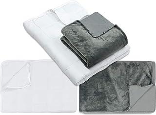Relax N 98 Gewichtsdecke 135x200 cm - Therapiedecke inkl. Wende-Bezug 1439.2039, Heavy 10 kg - Körpergewicht 90-109 kg, anthrazit