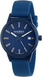 Haurex Italy Women's 6K378DBB Stainless Steel and Silicone Blue Watch