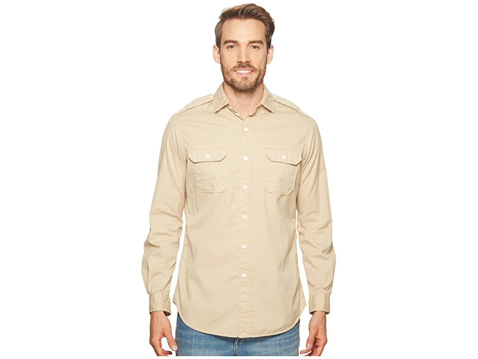 Polo Ralph Lauren Garment Dyed Chino Long Sleeve Sport Shirt (Sand Dune) Men