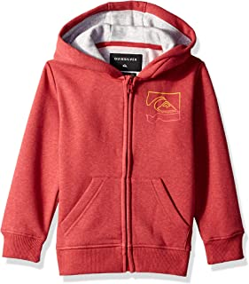 Quiksilver Children (youths) Diamond Zip Boy Garnet Heather Hoodie Size 7
