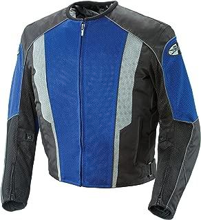 Joe Rocket Phoenix 5.0 Mesh Textile Motorcycle Jacket Blue/Black Men's Medium