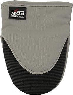 All Clad Textiles - Soporte para ollas, de Silicona/algodón, Color Cobalto, mitón de Agarre, Titanio, 1, 1