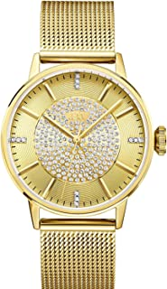 JBW Belle Women's Gold Pave Dial Stainless Steel Band Mesh Watch - J6339A