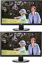 "HP 24uh 24"" Full HD LED Backlit LCD Monitor 2-Pack"
