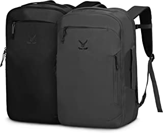 Hynes Eagle 40L Flight Approved Carry on Backpack Couple Backpack Compressible Backpack,Black+Grey