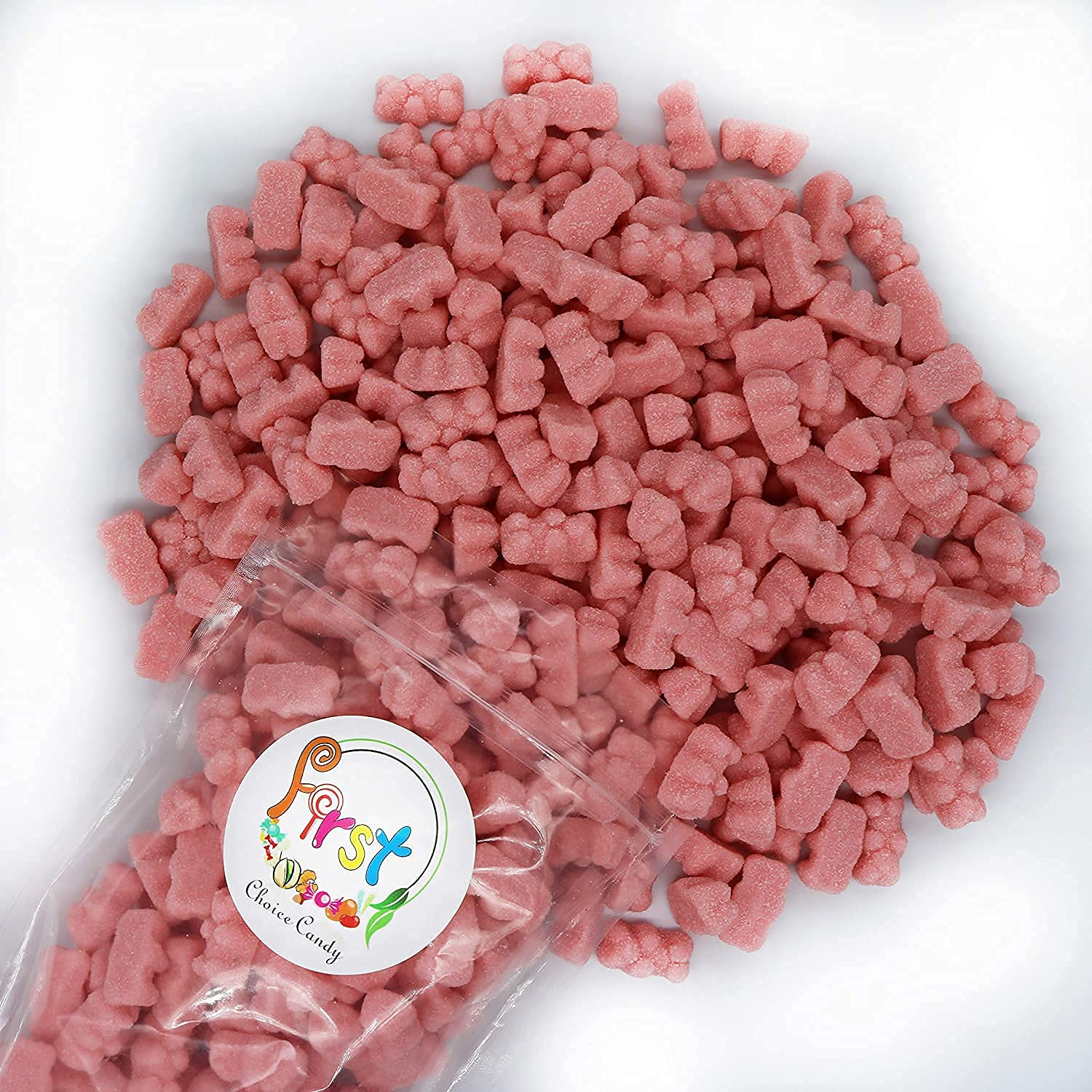 FirstChoiceCandy Sour Challenge the lowest price of Japan ☆ Wacky Gummy Watermelo Fun Bears New mail order Pink