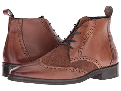 CARLOS by Carlos Santana Supernatural Chukka Boot (Walnut Calfskin/Suede) Men