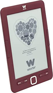 "Woxter E-Book Scriba 195 Red Lector de libros electrónicos 6""(1024x758, E-Ink Pearl pantalla más blanca, EPUB, PDF) Micro SD, Guarda más de 4000 libros, Textura engomada, color rojo"