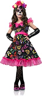 Girls Sugar Skull Sweetie Kids Day of The Dead Dress 40107