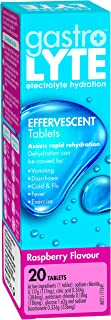 Gastrolyte Effervescent Tablets - Electrolyte rehydration formula - Quickly replaces fluids lost in illness, Raspberry, 20...