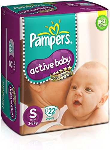 Pampers Active Baby Diapers, Small (22 Count) product image