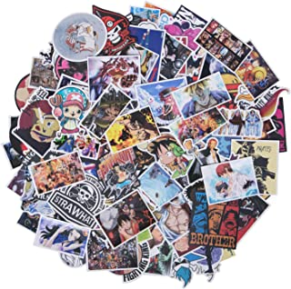 One Piece Stickers, 200 Pcs Anime Stickers, Cool Stickers Waterproof Vinyl Stickers Water Bottle Stickers Motorcycle Skateboard Stickers Laptop Stickers Decor Gift for One Piece Enthusiast Teen