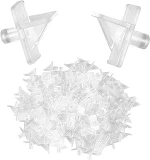 Pack of 100 – Plastic Shelf Support Pegs, Cabinet Furniture Shelf Pins, Bookcase Shelf Brackets, Fits 6mm 1/4