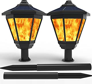 Lampat Solar Lights, Waterproof Flickering Flames Torches Lights Outdoor Landscape..