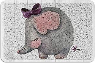 Meet 1998 Outdoor Durable Doormat Elephant with Bowknot Non-Slip Rubber Backing Mats Heavy Duty Carpet Shoes Scraper Rugs ...