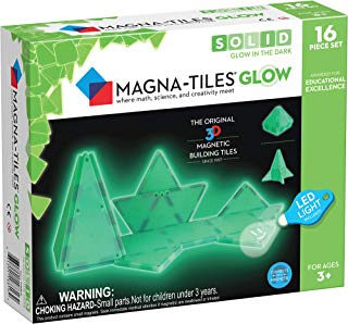 Magna Tiles Glow in The Dark Set – LED Light Included – The Original, Award-Winning Magnetic Building Tiles – Creativity & Educational – STEM Approved