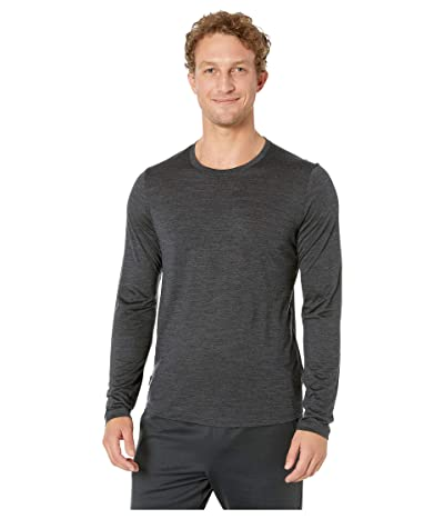 Icebreaker Sphere L/S Crewe (Black Heather 1) Men