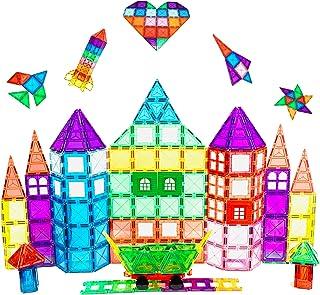 Magnescape 100 Pcs Magnetic Tiles   Educational Preschool Kids Toys For Building Construction Structures   Stimulates Crea...