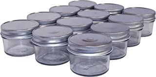 North Mountain Supply NMS-04-SV 4 Ounce Regular Mouth Mason Canning Jars - with Silver Metal Safety Button Lids - Case of 12
