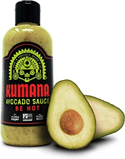 Kumana Avocado Hot Sauce. A Savory Keto Friendly Hot Sauce made with Ripe Avocados, Mango and Habanero Peppers. Ketogenic & Paleo. Gluten Free, No Added Sugar & Low Carb. 13.1 Ounce Bottle.