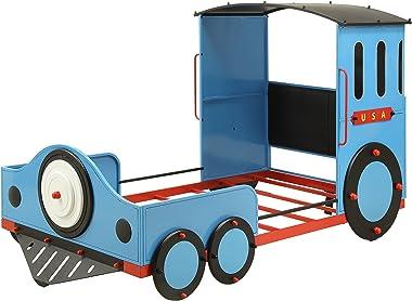 ACME Tobi Twin Bed - 37560T - Blue/Red & Black Train