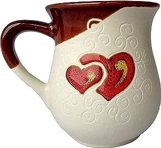 Pottery coffee mug Gift Idea«White Heart»10 fl oz