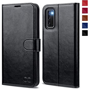 OCASE Galaxy S20 Case, Galaxy S20 Wallet Case, PU Leather Folio Flip Case with RFID Blocking Card Holders Kickstand Magnetic Closure, Shockproof Phone Cover for Samsung Galaxy S20 6.2 Inch (Black)
