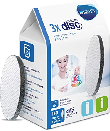 BRITA MicroDisc Replacement Filters for fill & go Bottles, Pack of 3